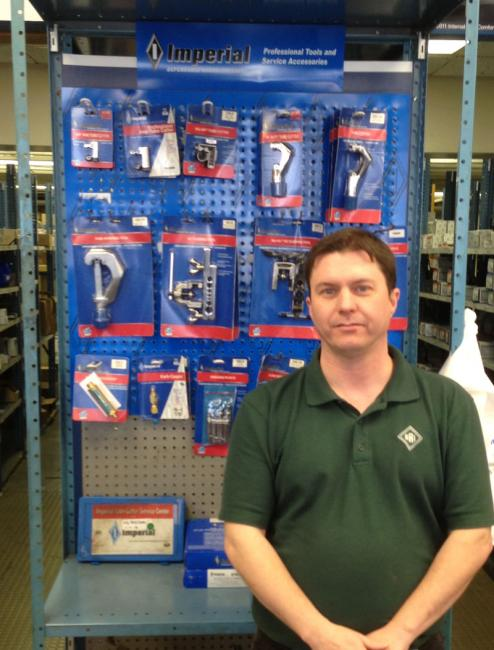 Imperial Tools Display – Philadelphia, PA USAHere's our display in a United Refrigeration branch in Philadelpha, PA with Branch Manager Gordon Pammenter.